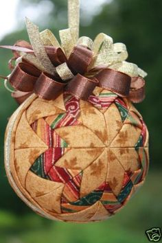 Autumn Quilted Ornament