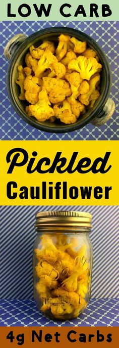 This recipe for low carb curry pickled cauliflower will knock your socks off. #lowcarb #keto #ketogenic #healthy #pickle #recipe #lchf #diet