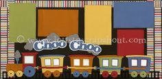 Choo Choo Scrapbook Page Kit [choochoo13] - $7.99 :: Lotts To Scrap About - Your Online Source for Scrapbook Page Kits!