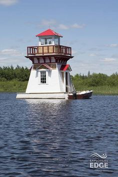 Lighthouse on the Magnetawan River - What a great way to spend the day, touring the Magnetawan River between Burk's Falls and Magnetawan. http://www.explorersedge.ca/ — in Burks Falls.