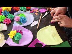 10marifet - keçe çiçek nasıl yapılır, bebek beresi nasıl süslenir? - YouTube