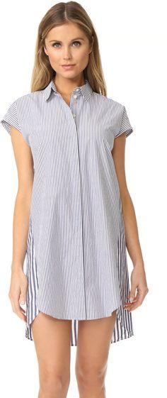 Madewell Stripe Mix Shirtdress In Ocean Storm Paul Joe, Diane Von Furstenberg, Madewell, Shirtwaist Dress, Dresses For Work, Women's Dresses, Sweater Skirt, Shirt Dress, Striped Shorts