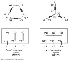 two speeds two directions motor control power diagram delta wye motor connection diagram