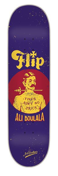 Flip Skateboards: Decks: 8.25in x 32.31in Boulala Contino Illusion Deck