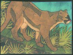 Batik Art - Florida Panther - Robin Zimmerman