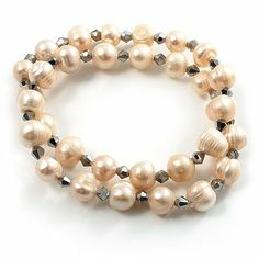 2-Strand Intertwine Freshwater Pearl Flex Bracelet Set (White) Avalaya. $14.31. Occasion: anniversary, bridal, bridesmaid, cocktail party, wedding. Material: pearls. Collection: pearl. Gemstone: freshwater pearl. Wear On: wrist