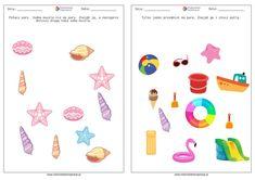 Wakacje - karty pracy dla przedszkola. PDF do druku | RodzicielskieInspiracje.pl Playing Cards, Playing Card Games, Game Cards, Playing Card