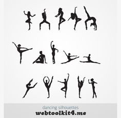 6 free ballet silhouettes vector silhouettes pinterest for Female silhouette tattoo