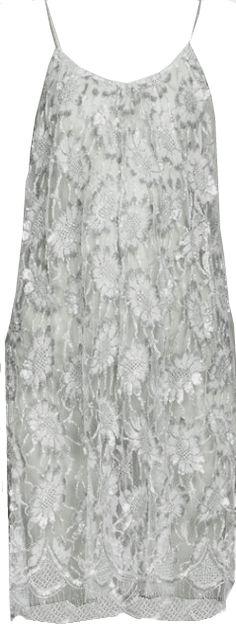 Saint Laurent Daisy Lace Slip Dress