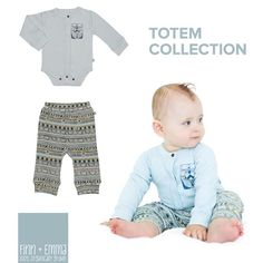 Have you checked out our Totem Collection? Filled with 100% GOTS Organic Cotton and the most adorable prints! Shop now at finnandemma.com #finnandemma
