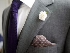 Another suitably understated, yet interesting  ensemble. (Victors2Sense: Boutonniere and pocket square...like the contrast and this look and size)