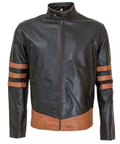X Men Origins Wolverine Logan Leather Jacket Celebrity leather jacket Special Discount Offer and free shipping at leather jacket UK