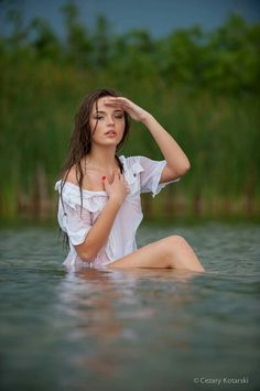 Photoshoot in the water