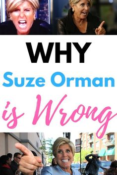 Why Suze Orman is Wrong About Money - Finance tips, saving money, budgeting planner Ways To Save Money, Money Tips, Money Saving Tips, Managing Money, Personal Finance Articles, Finance Tips, Total Money Makeover, Suze Orman, Savings Planner