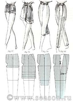 Nice image of the block alterations.Pants shapes andIllustration shows different pant lengthsShorts, Capri's, n Trousers y shorts Sewing Patterns Girls, Clothing Patterns, Dress Patterns, Shirt Patterns, Fashion Sewing, Diy Fashion, Ideias Fashion, Diy Pantalon, Sewing Pants