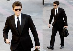 Photos of John Mayer in Tux On His Way to The Tonight Show in LA