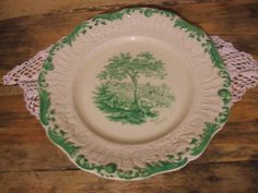 Green A REST BY THE WAY Collectible PLATE Ridgeways                           12