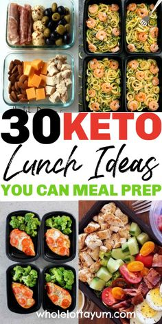 30 Low Carb Keto Lunches and meals you can meal prep! Meal prepping makes a keto diet for beginners easier, these also make fantastic low carb and keto dinner ideas too. keto dinner 30 Low Carb Keto Lunch Ideas to Meal Prep Ketogenic Diet Meal Plan, Ketogenic Diet For Beginners, Diet Meal Plans, Ketogenic Recipes, Meal Prep Low Carb, Diet Menu, Meal Prep For The Week Low Carb, Ketosis Diet, Low Carb Diet Plan
