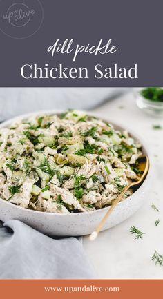 Paleo Salad Recipes, Paleo Chicken Recipes, Primal Recipes, Lunch Recipes, Real Food Recipes, Healthy Chicken, Healthy Recipes, Delicious Recipes, Salads Up