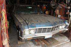 Bring the Kids: 1967 Chevrolet Impala Wagon 1967 Chevy Impala, 67 Impala, Abandoned Cars, Abandoned Vehicles, Best Barns, Rusty Cars, Barn Finds, Time Capsule, Station Wagon