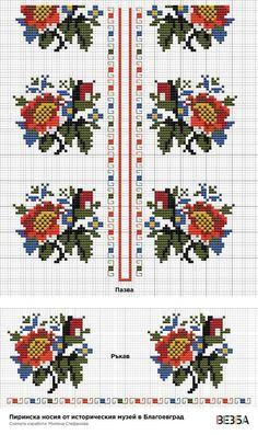 Folk Embroidery, Cross Stitch Embroidery, Embroidery Patterns, Kawaii Cross Stitch, Cross Stitch Rose, Cross Stitch Designs, Cross Stitch Patterns, Tatting Patterns Free, Vintage Cross Stitches