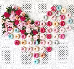 All You Need Is, Donuts, Ruby Rabbit, A Little Party, Food Displays, Cake Art, Flower Wall, All Pictures, Happy Valentines Day