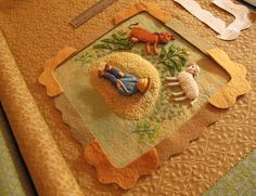Little Boy Blue, come blow your horn; the sheep's in the meadow, the cow's in the corn. Here isthe original fabric relief illustration for the rhyme, Little Boy Blue, from my book, Poc…