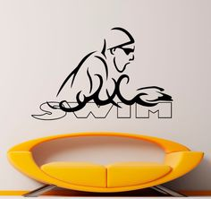 Swimming Wall Decal Vinyl Stickers Water Sports by Rossstickers