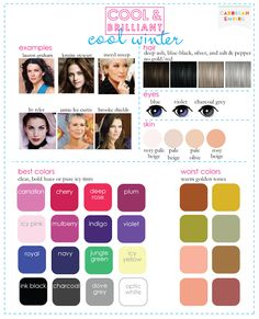 My palette is more or less cool winter, although I do not do well in white or light yellow directly against my skin.