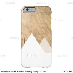 Snow Mountains Modern Wood Barely There iPhone 6 Case