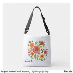 Shop Bright Flowers Floral Bouquet, Watercolor Painting Crossbody Bag created by DesignByLang. Bright Flowers, Floral Bouquets, You Bag, Watercolor Paintings, Floral Design, Fashion Accessories, Crossbody Bag, Reusable Tote Bags, Glitter Flowers