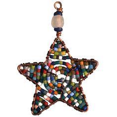 Beaded Star Ornament Rainbow - Ghana