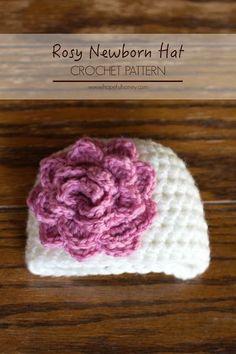 Hopeful Honey   Craft, Crochet, Create: Rosy Newborn Hat Crochet Pattern