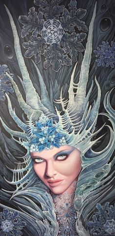 CHIONE - GODDESS OF WINTER AND SNOW BY VOSS FINEART (DAMIEN VOSS-FRIESZ)