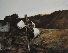 Bucket Post I Andrew Wyeth Andrew Wyeth Paintings, Andrew Wyeth Art, New York School, Amazing Paintings, Watercolor Art, Art Projects, Bucket, Abstract, Painting Art