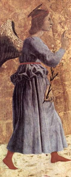'Archangel Gabriel', Oil On Panel by Piero Della Francesca (1415-1492, Italy)