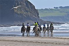 Pembrokeshire beach riding