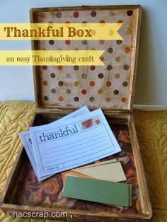 How To Make a Thanksgiving Gratitude Box -