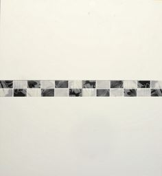 Wickes black white gloss ceramic mosaic border tile for Wickes bathroom border tiles