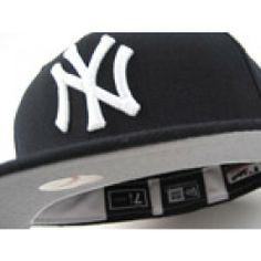 606e080eea7f0 New York Yankees Retro New Era Hat (NAVY w  GREY UNDER and WHITE LINING