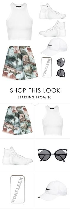 """""""Untitled #27"""" by kiticali on Polyvore featuring Carven, Topshop, Converse, River Island and NIKE"""