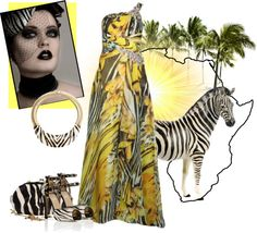 """Zebra"" by mystimorgan on Polyvore"