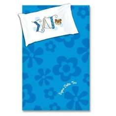Sigma Delta Tau Sorority Blanket and Pillowcase Package $34.95