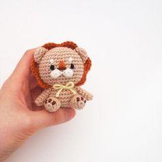 Crochet Doll Amigurumi Pattern Lion GGoMa series toy