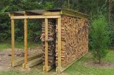 Furniture, Backyard Rustic House Design With DIY Covered Firewood Rack Storage With Roof Ideas ~ DIY Firewood Rack