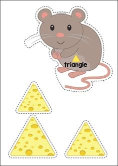 Pets Preschool and Kindergarten Centers. Sort the 2d shapes cheese to the correct mouse.