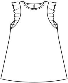Платье для девочки - выкройка № 137 из журнала 12/2015 Burda – выкройки платьев на Burdastyle.ru Baby Patterns, Dress Patterns, Kids Western Wear, Flannel Quilts, Fashion Design Drawings, Dress Tutorials, Technical Drawing, Sewing Clothes, Baby Wearing