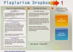The Keyword Blog: Understand Paraphrasing & Plagiarism:   Plagiarism Dropbox: Inexpensive licenses for school districts.