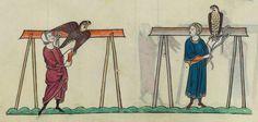 FRÉDÉRIC II , traité de fauconnerie , traduction française, faite à la demande de Jean, sieur de Dampierre et de Saint-Dizier, et de sa fille Isabelle.  Date d'édition :  1201-1300  Français 12400  Folio 150v
