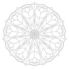 free mandala herzen malvorlage zum ausdrucken   basteln   mandala malvorlagen, malvorlagen und